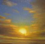 <b>Sunset</b>, 2015<br>Oil on canvas, 36x36 inches<br>$6000