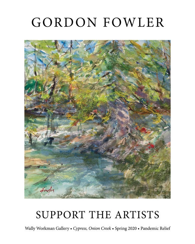 Gordon Fowler, Support The Artists poster