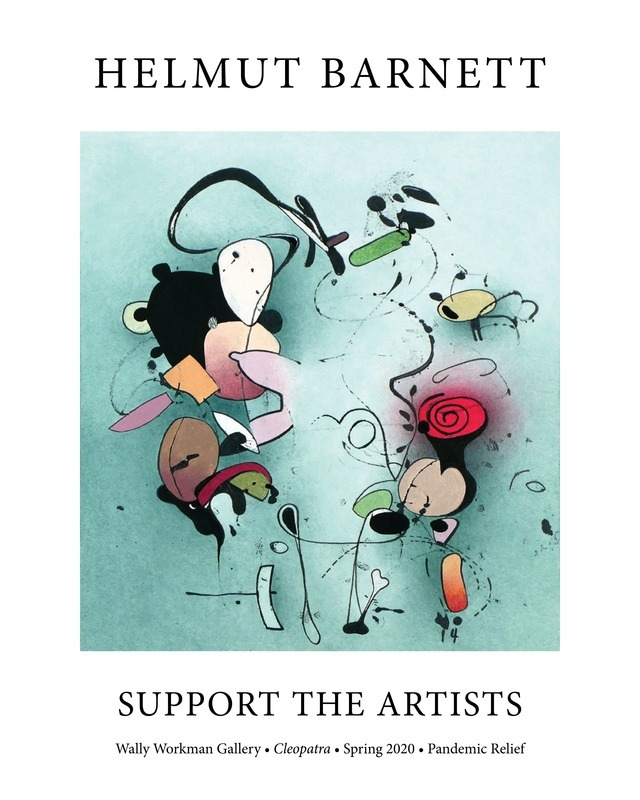 Helmut Barnett, Support The Artists poster