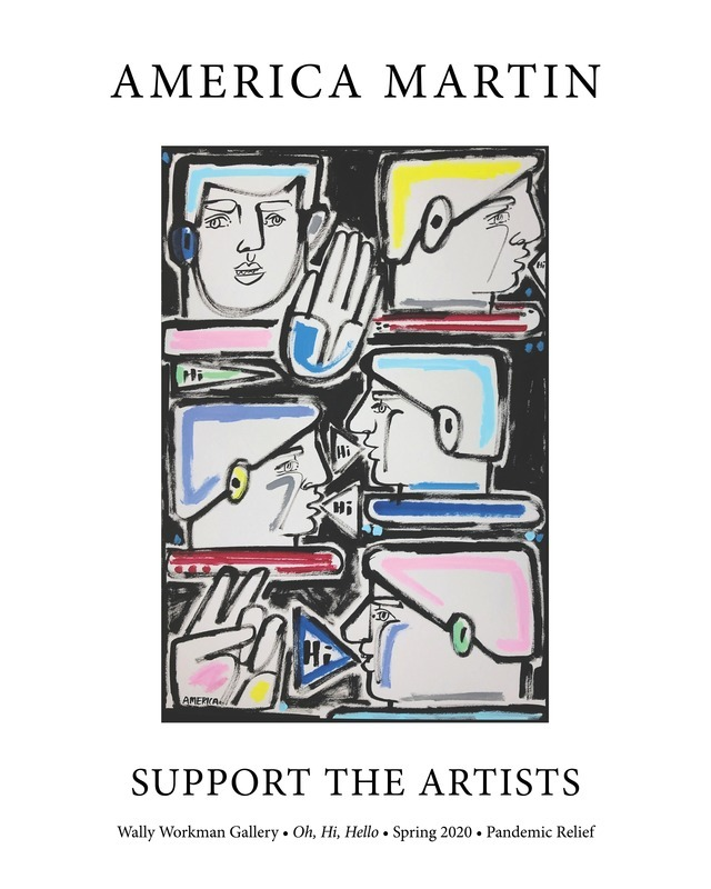 America Martin, Support The Artists poster