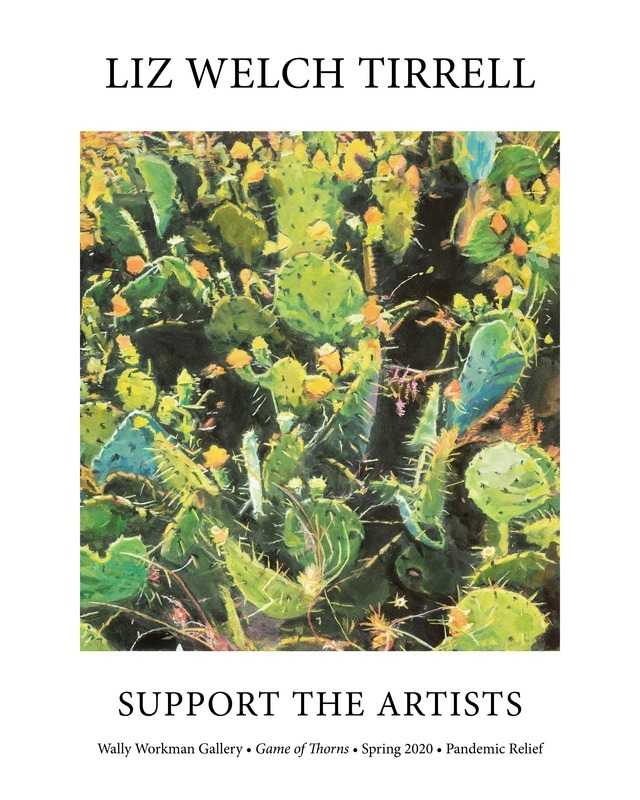 Liz Tirrell, Support The Artists poster