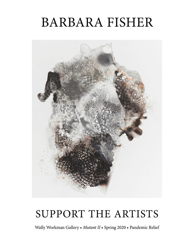 Barbara Fisher, Support The Artists poster