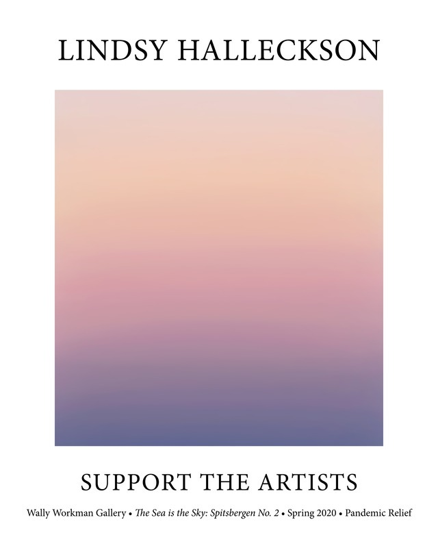 Lindsy Halleckson, Support The Artists poster
